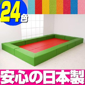 キッズコーナー バンビ30cm角セット 4畳プランA/キッズスペース 屋内 安心 クッション マット|isuharikoubou