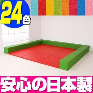 プレイマット バンビ30cm角セット 4.5畳プランB/室内 赤ちゃん キッズ 子ども キッズスペース キッズコーナー|isuharikoubou