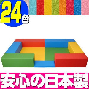 キッズコーナー バンビファンシーセット 1畳 入口マットつき/ベビー 幼児 フロアマット キッズスペース|isuharikoubou