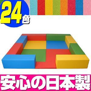 キッズコーナー バンビファンシーセット 2畳 入口マットつき/ベビー 幼児 フロアマット キッズスペース|isuharikoubou