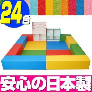 キッズコーナー バンビファンシーセット 2畳 プランA/キッズスペース セット おもちゃばこ 絵本たて|isuharikoubou
