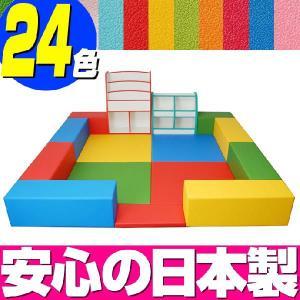 キッズコーナー バンビファンシーセット 2畳 プランB/キッズスペース セット おもちゃばこ 絵本たて|isuharikoubou