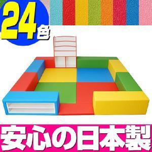 キッズコーナー バンビファンシーセット 2畳 プランF/キッズスペース セット おもちゃばこ 絵本たて|isuharikoubou