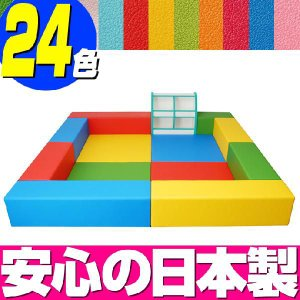 キッズコーナー バンビファンシーセット 2畳 プランG/キッズスペース セット おもちゃばこ 絵本たて|isuharikoubou