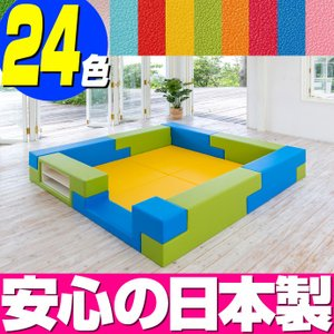 ブロック シリーズ 2畳タイプ 2Cプラン / キッズコーナー キッズルーム かわいい クッションマット キッズスペース ベビー プレイマット isuharikoubou
