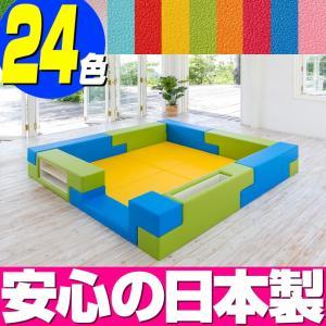 ブロック シリーズ 2畳タイプ 2Dプラン / キッズコーナー キッズルーム かわいい クッションマット キッズスペース ベビー プレイマット isuharikoubou