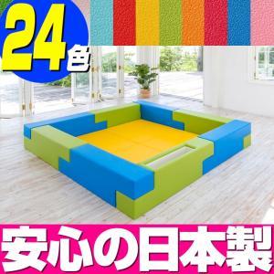 ブロック シリーズ 2畳タイプ 2Eプラン / キッズコーナー キッズルーム かわいい クッションマット キッズスペース ベビー プレイマット isuharikoubou