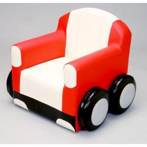 カーソファ スポーツカータイプ/子ども 椅子 ベンチ クッション きっず キッズスペース|isuharikoubou