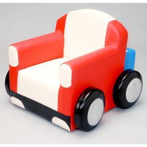 カーソファ トラックタイプ/子ども 椅子 ベンチ クッション きっず キッズスペース|isuharikoubou