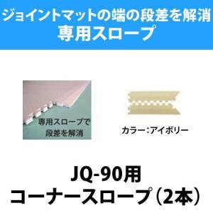 ジョイントマット 抗菌・防炎シリーズ 90cm角(JQ-90)用コーナースロープ(2本入り) / ベビーマット マット フロアマット タイル マット isuharikoubou