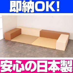 即納 キッズコーナー バンビ30cm角セット 1畳プランB クッキーカラー/クッション 日本製 キッズスペース 人気|isuharikoubou