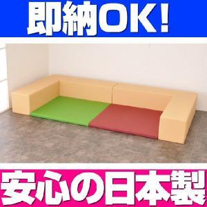 即納 キッズコーナー バンビ30cm角セット 1畳プランB ジャポネカラー/クッション 日本製 キッズスペース 人気|isuharikoubou