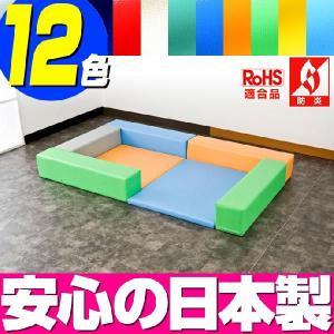 キッズコーナー ターポリン バーディーシリーズ フロアマット2枚 入口ありプラン/販売 防炎 RoHS適合 赤ちゃん プレイマット|isuharikoubou
