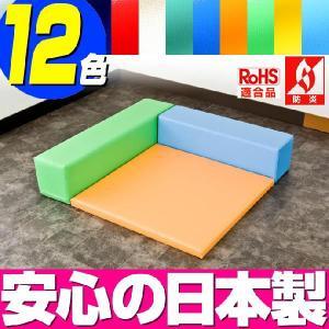 (キッズコーナー 防炎 RoHS適合)ターポリン バーディーシリーズ フロアマット1枚 Lの字プラン|isuharikoubou