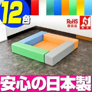 (キッズコーナー 防炎 RoHS適合)ターポリン バーディーシリーズ フロアマット1枚 ロの字プラン|isuharikoubou