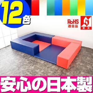 (キッズコーナー 防炎 RoHS適合)ターポリン ベアシリーズ フロアマット2枚 入口ありプラン|isuharikoubou