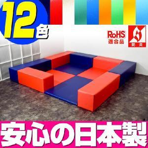 (キッズコーナー 防炎 RoHS適合)ターポリン ベアシリーズ フロアマット4枚 入口ありプラン|isuharikoubou