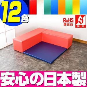 (キッズコーナー 防炎 RoHS適合)ターポリン ベアシリーズ フロアマット1枚 Lの字プラン|isuharikoubou