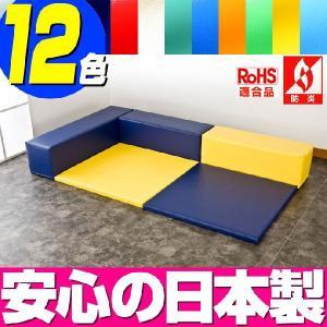 (キッズコーナー 防炎 RoHS適合)ターポリン ポニーシリーズ フロアマット2枚 Lの字プラン isuharikoubou