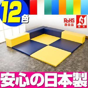 (キッズコーナー 防炎 RoHS適合)ターポリン ポニーシリーズ フロアマット4枚 Lの字プラン isuharikoubou