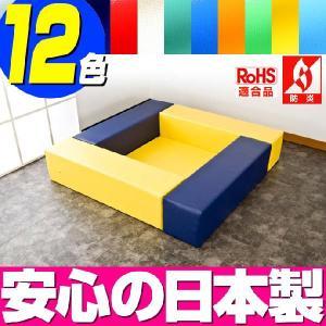 (キッズコーナー 防炎 RoHS適合)ターポリン ポニーシリーズ フロアマット1枚 ロの字プラン isuharikoubou