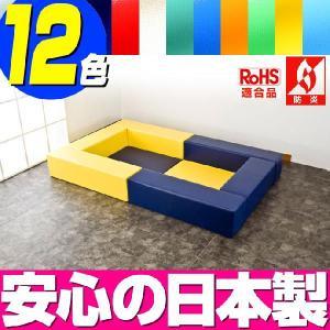 (キッズコーナー 防炎 RoHS適合)ターポリン ポニーシリーズ フロアマット2枚 ロの字プラン isuharikoubou