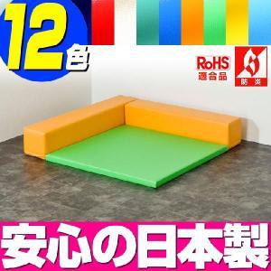 (キッズコーナー 防炎 RoHS適合)ターポリン ラビットシリーズ フロアマット1枚 Lの字プラン|isuharikoubou