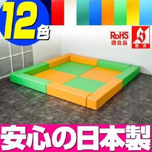 (キッズコーナー 防炎 RoHS適合)ターポリン ラビットシリーズ フロアマット4枚 ロの字プラン|isuharikoubou