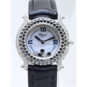 ショパール ハッピースポーツWG 27/6244-50 ベゼルダイヤブラックダイヤ レディス 腕時計 isuzu78quality