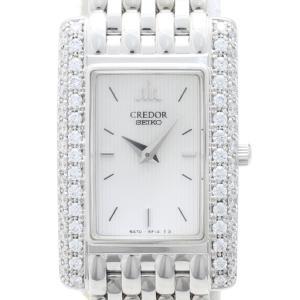 セイコー クレドール K18WGダイヤベゼル GTWE957 5A70-3C90 レディス 腕時計 isuzu78quality