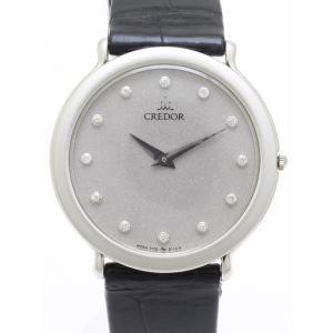 セイコー クレドール プラチナ ダイヤ GBAJ003 7770-6100 メンズ 腕時計|isuzu78quality
