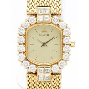 セイコー クレドール K18 ダイヤベゼル GHWF794 2F70-5630-D レディス 腕時計|isuzu78quality