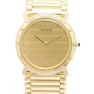 セイコー クレドール リネアクルバ K18YG ダイヤ GHJX954 5A74-0060  レディス 腕時計|isuzu78quality