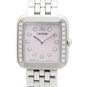 セイコー クレドール シグノ ダイヤベゼル ピンクシェル文字盤 GSTE875 1E70-0CR0 レディス 腕時計|isuzu78quality
