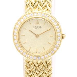 セイコー クレドール K18 ダイヤベゼル GTAA986 4N70-0140  レディス 腕時計|isuzu78quality
