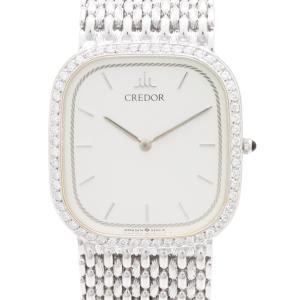 セイコー クレドール プレステージ K18WGダイヤベゼル GHJX066 5A74-5100-D  メンズ 腕時計|isuzu78quality