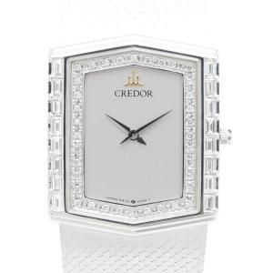 セイコー クレドール K18WGダイヤベゼル GHJX016 5A74-5020 メンズ 腕時計|isuzu78quality