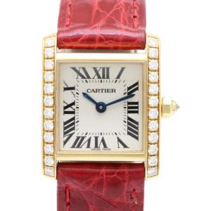 カルティエ タンクフランセーズSM K18YGダイヤ レディス 腕時計 isuzu78quality