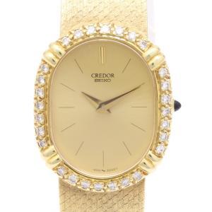 セイコー クレドール K18ダイヤベゼル 14-6760-D レディス 腕時計 isuzu78quality