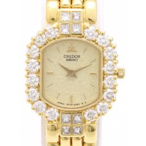セイコー クレドール K18ダイヤベゼル GPWF986 2F70-6500-D レディス 腕時計 isuzu78quality