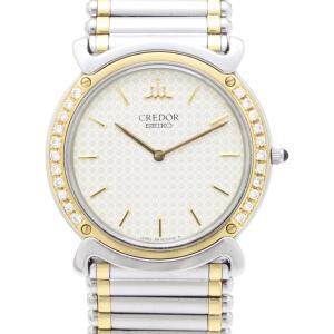 セイコー クレドール ダイヤベゼル GKJX060 5A74-0190 メンズ 腕時計|isuzu78quality