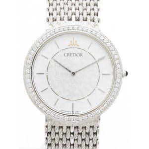 セイコー クレドール K18WGダイヤベゼル GHJX120 5A74-0180-D メンズ 腕時計|isuzu78quality
