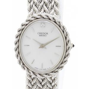 セイコー クレドール K18WG ダイヤ GTTE839 1E70-3190  レディス 腕時計 isuzu78quality