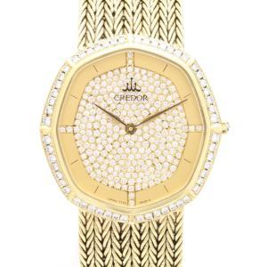 セイコー クレドール K18YGベゼル文字盤ダイヤ GHAJ877 7770-5220 メンズ 腕時計|isuzu78quality