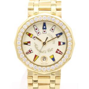コルム アドミラルズカップ K18ベゼルダイヤ 39.910.65 V085 レディス 腕時計|isuzu78quality