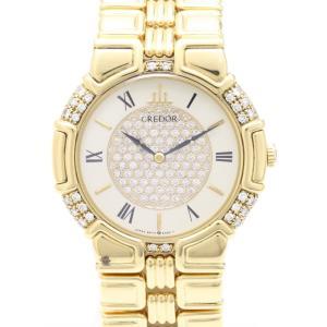 セイコー クレドール エントラータ K18YGベゼル文字盤ダイヤ GHAK774 9570-6050 メンズ 腕時計|isuzu78quality