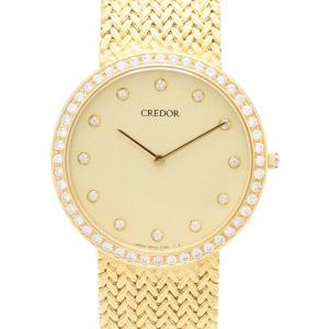 セイコー クレドール K18 ダイヤ GBJX016 5A74-0460 メンズ 腕時計|isuzu78quality