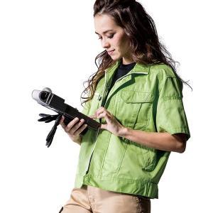 [商品説明] 色・サイズが豊富に揃った「アンドレスケッティ」の作業服シリーズ。安定のT/C素材でレデ...