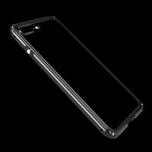 iPhone8 plus/iPhone7 Plus アルミバンパー クリア バックパネル付き 2重構造 かっこいい アイフォン7プラス メタルケース|it-donya