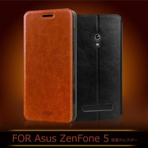 ASUS ZenFone 5 手帳型 レザー ケース 横開き /スタンドカバー ウォレット/財布型ケース シンプルでおしゃれなレザ  a500-i23-t41107|it-donya